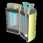 液状化対策型飲料パンフ用鳥瞰図(カット)シェーダー
